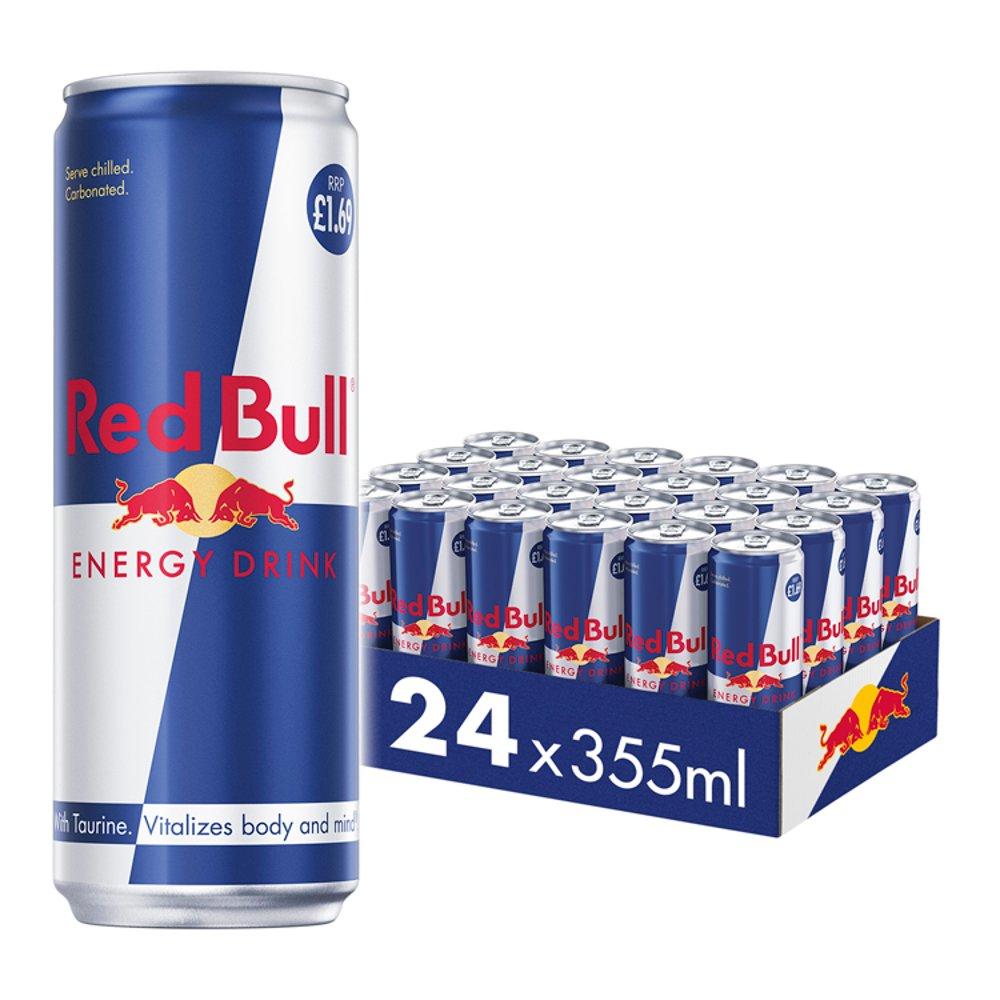 Red Bull Energy Drink, 355ml, PM £1.69 (24 Pack)
