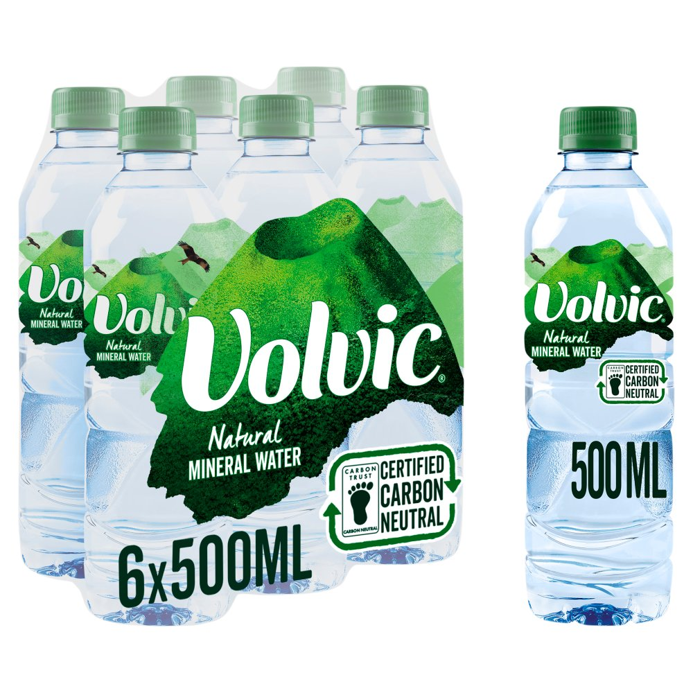 Volvic Natural Mineral Water 6 x 0.5L
