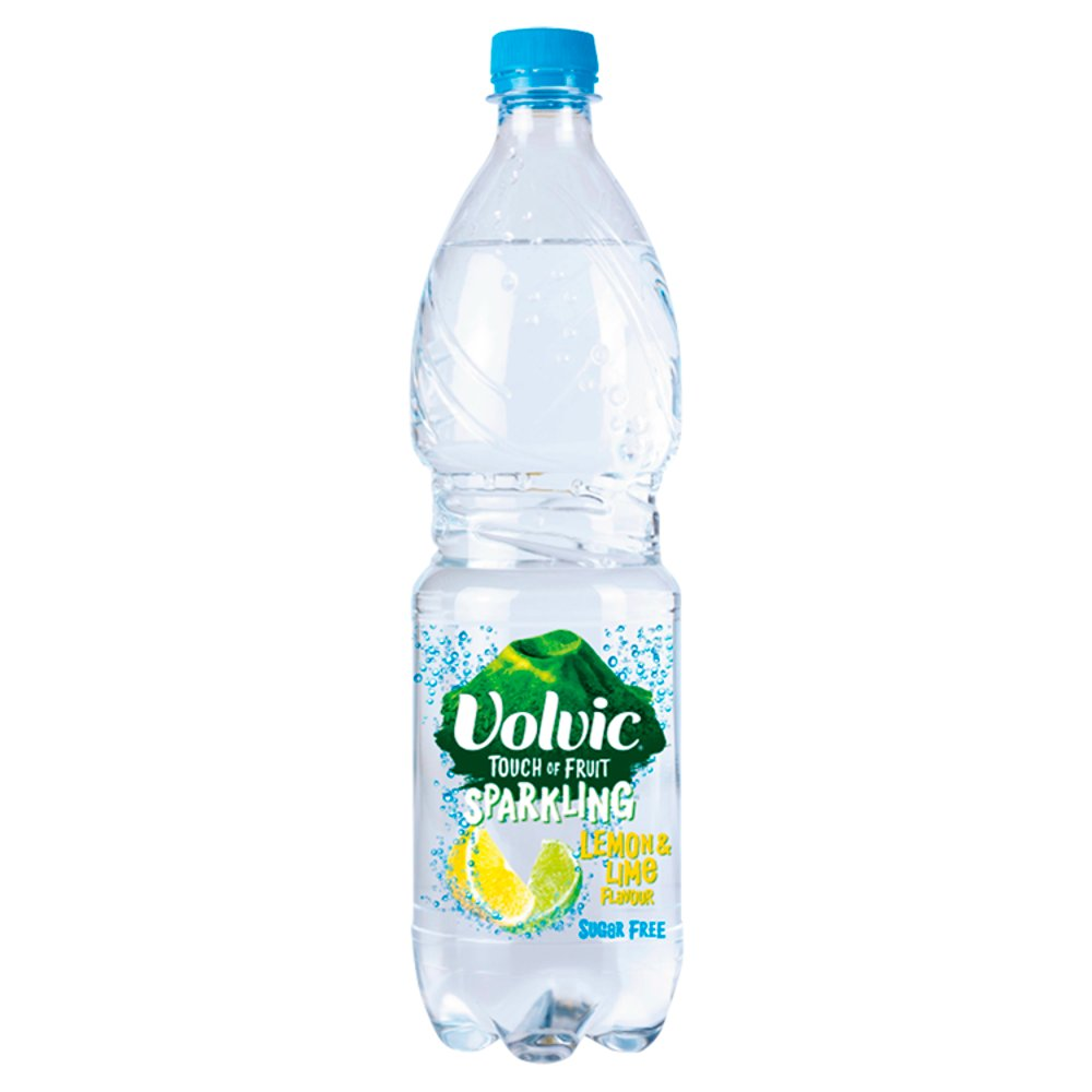 Volvic Touch Of Fruit Sparkling Lemon & Lime 920ml