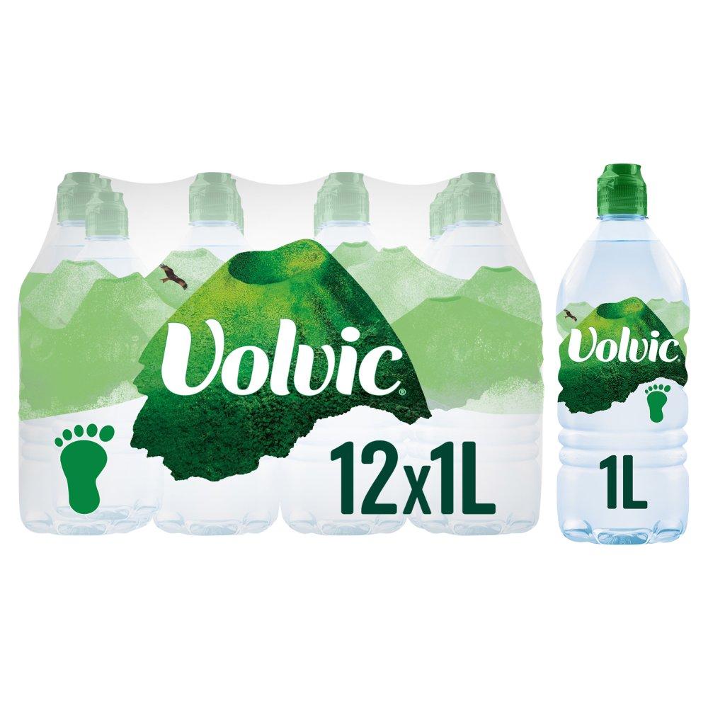 Volvic Natural Mineral Water 12 x 1L