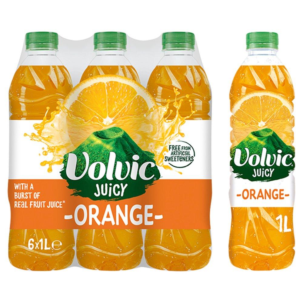 Volvic Juicy Orange 6 x 1L
