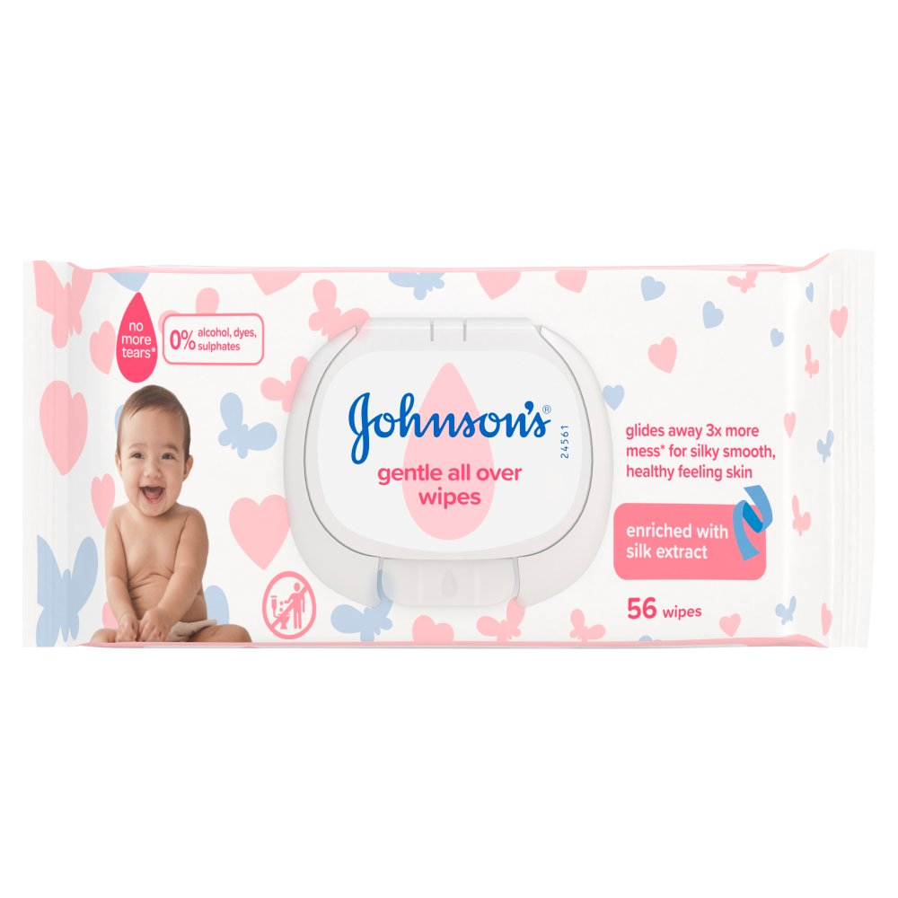 JOHNSON'S® Gentle All Over Wipes 56 Wipes