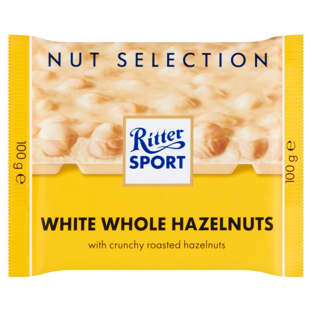 Ritter Sport Nut Selection White Whole Hazelnuts 100g