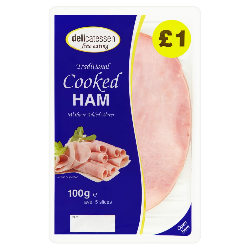 Delicatessan Fine Eating Cooked Ham PM £1