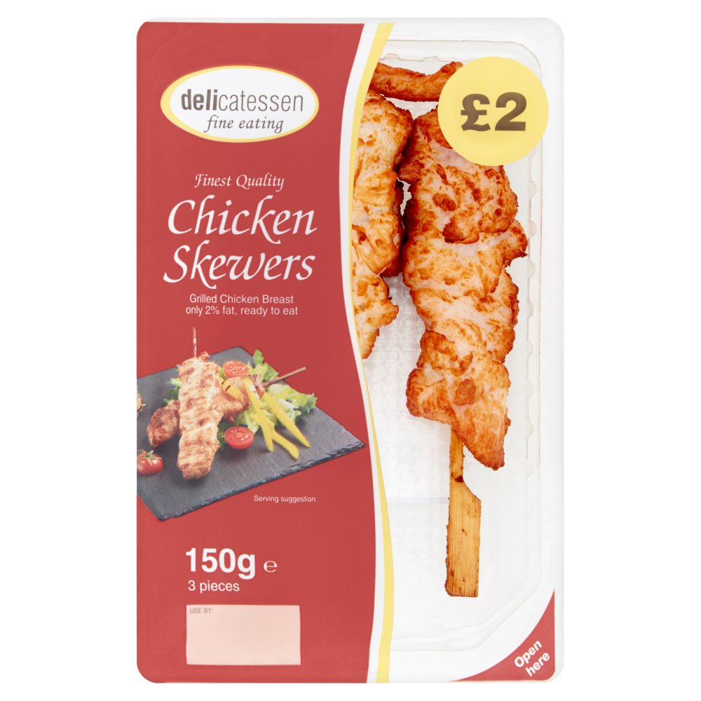 Delicatessen Fine Eating 3 Chicken Skewers 150g