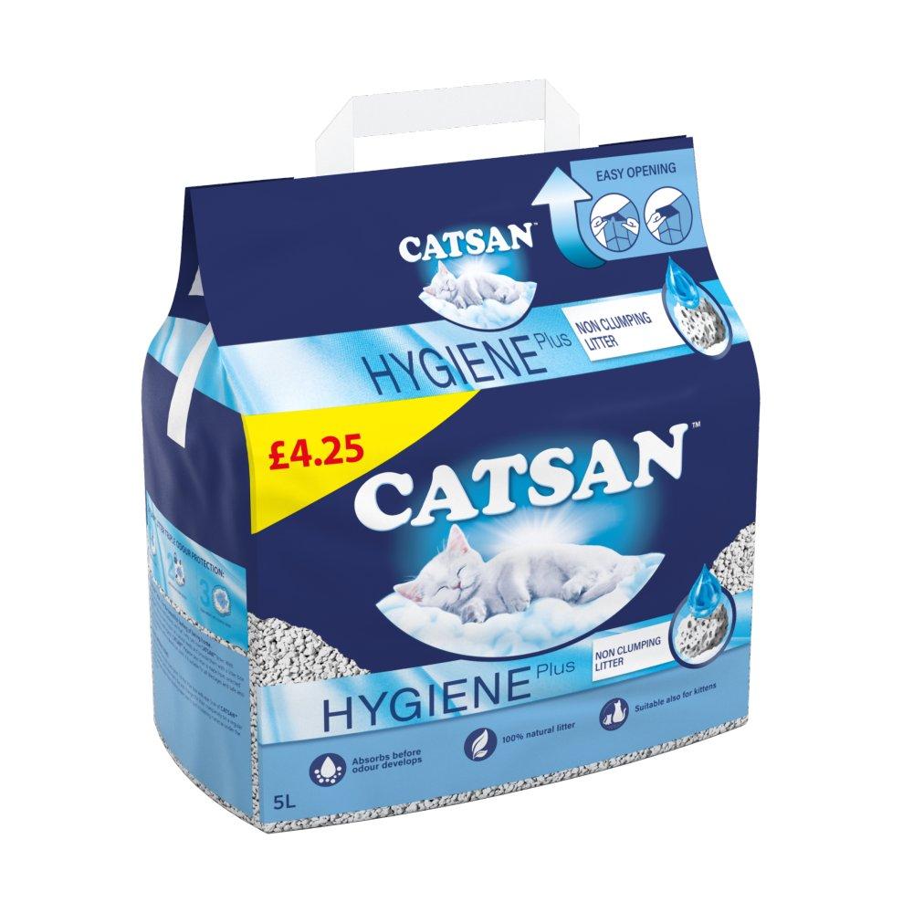 Catsan HygieneNon-Clumping Odour Control CatLitter5L PMP£4.25