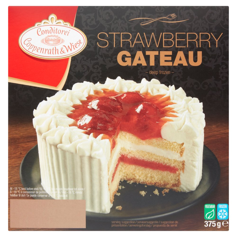 C & W Strawberry Gateau