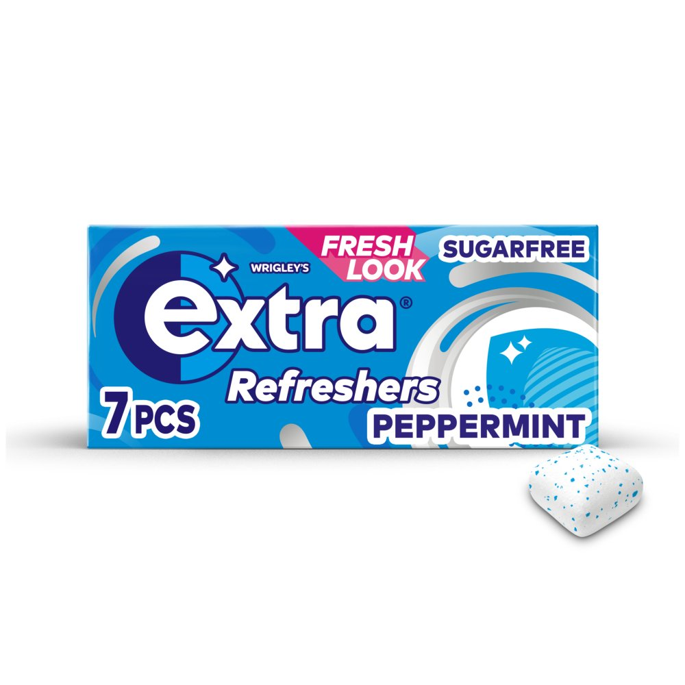 Extra Refreshers Peppermint Sugar Free Chewing Gum Handy Box 7pcs