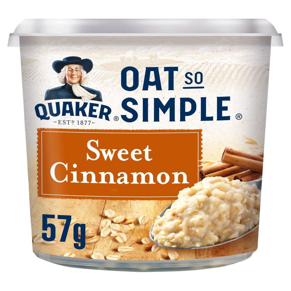 Quaker Oat So Simple Sweet Cinnamon Porridge Pot 57g
