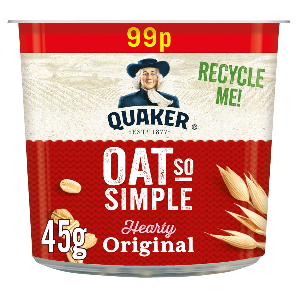 Quaker Oat So Simple Original Porridge Pot 99p RRP PMP 45g