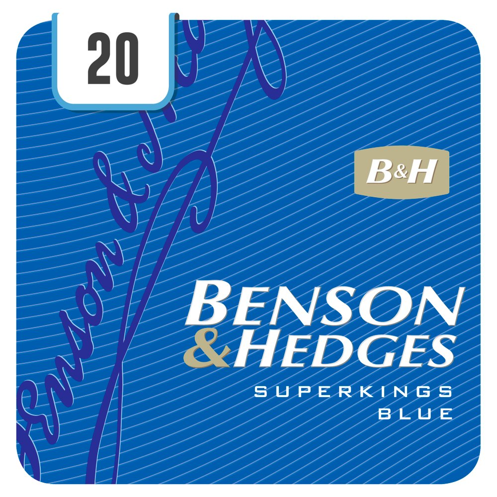 Benson & Hedges Superkings Blue 20 Cigarettes Track & Trace Compliant