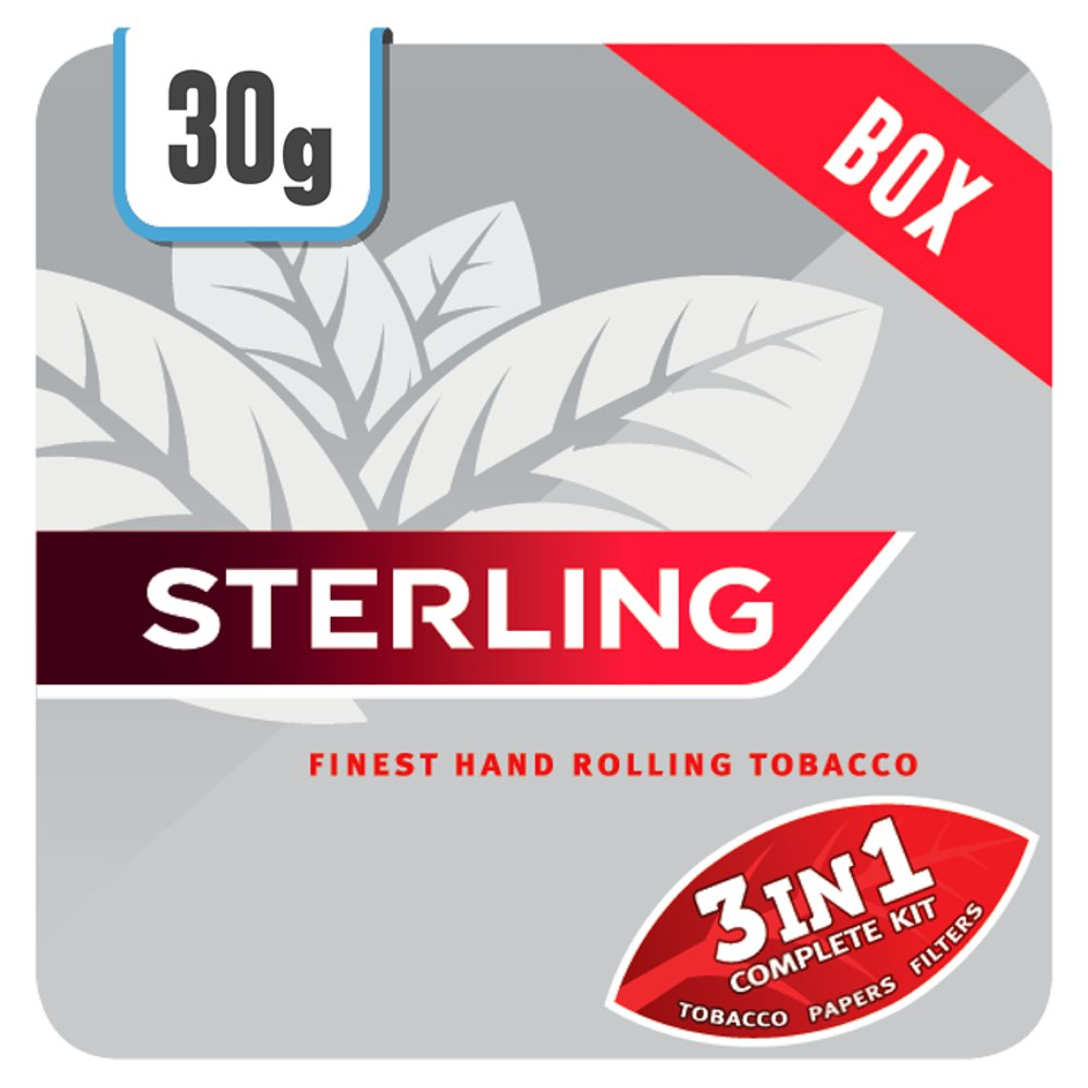 Sterling Original 3 in 1 Finest Hand Rolling Tobacco 30g Track & Trace Compliant