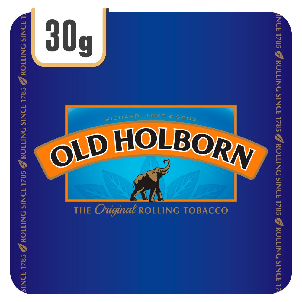 Old Holborn Original Hand Rolling Tobacco 30g Track & Trace Compliant