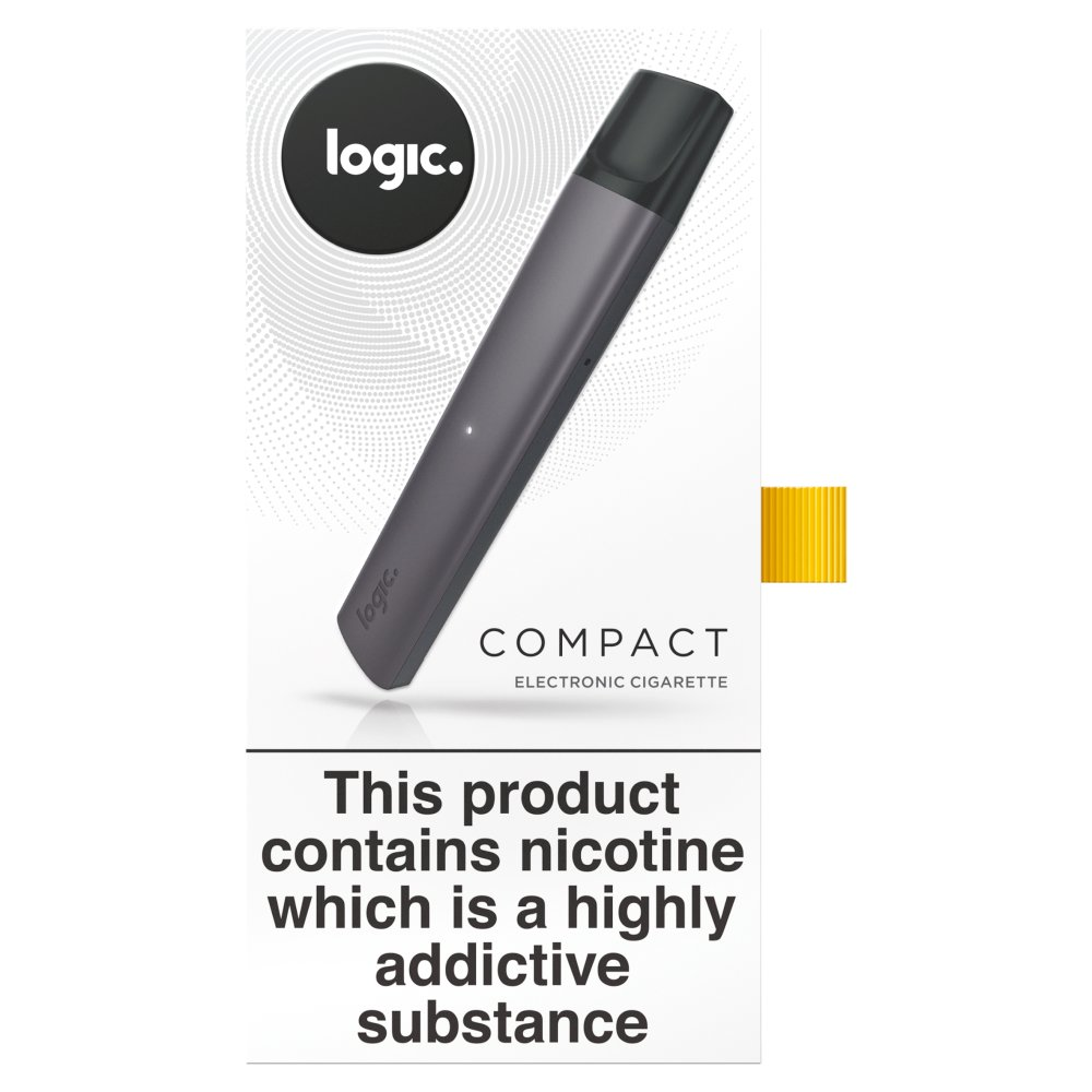 Logic Compact Charcoal Starter Kit Electronic Cigarette