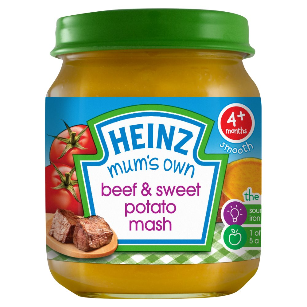 Heinz Beef Sweet Potato Mash Jar