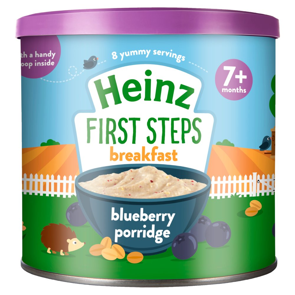 Heinz 7+ Months First Steps Blueberry Porridge 240g