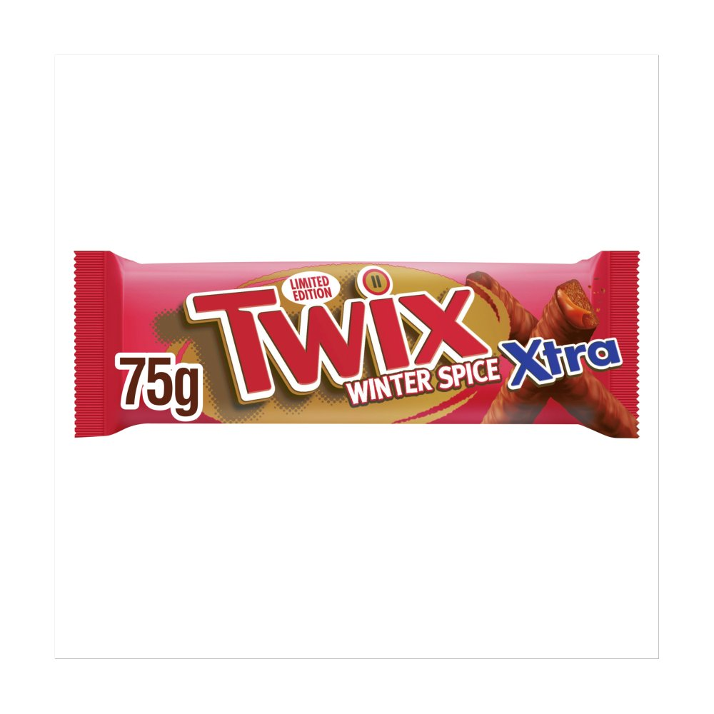 Twix Xtra Winter Spice Chocolate Biscuit Twin Bars 75g