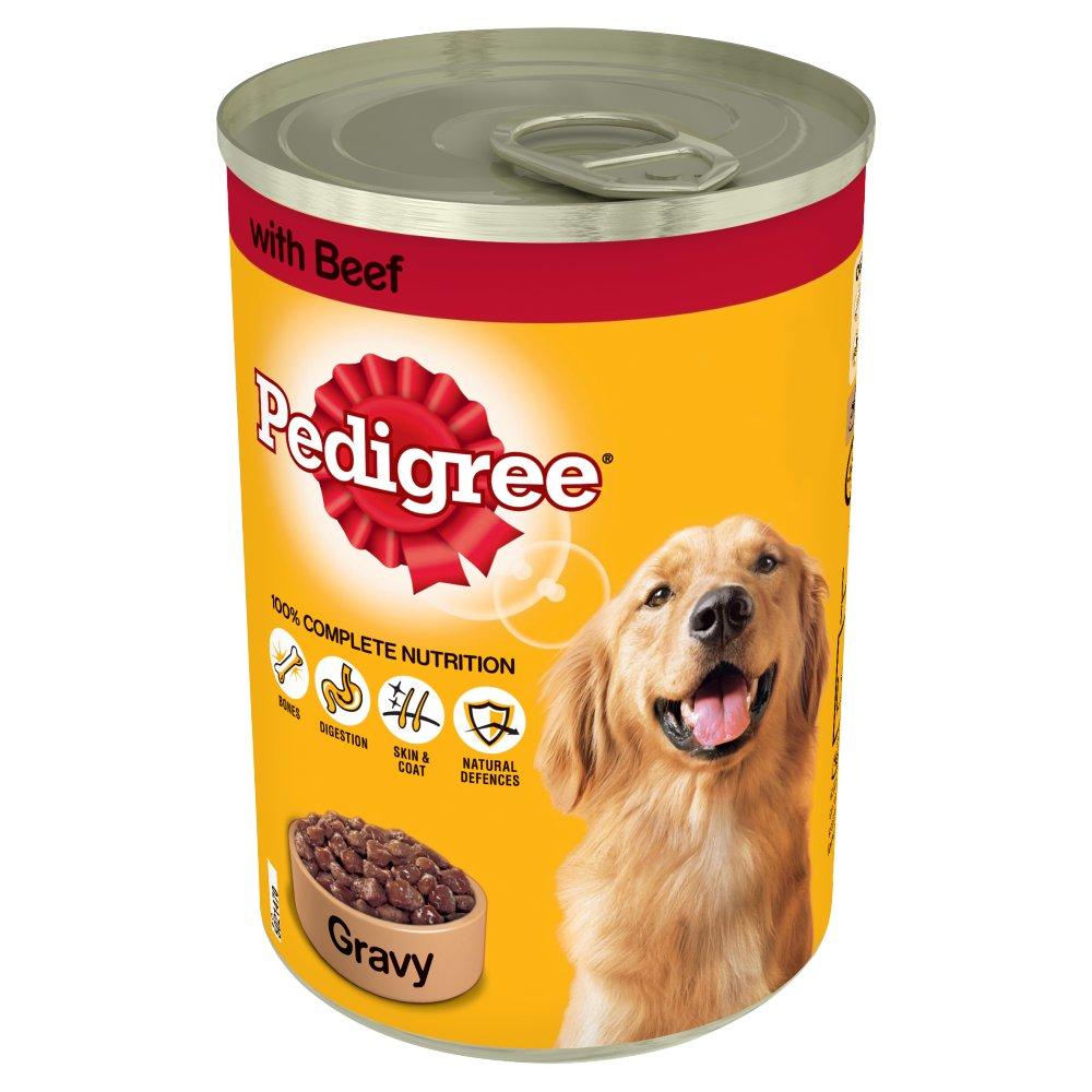 PEDIGREE Dog Tin with Beef in Gravy 400g