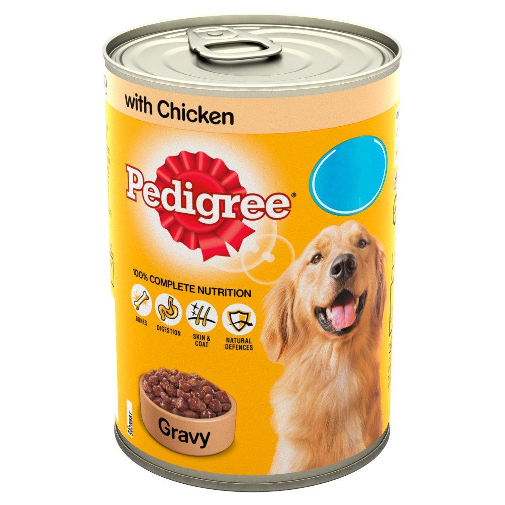 Pedigree Dog Food Tin Chicken in Gravy 400g MPP 85p