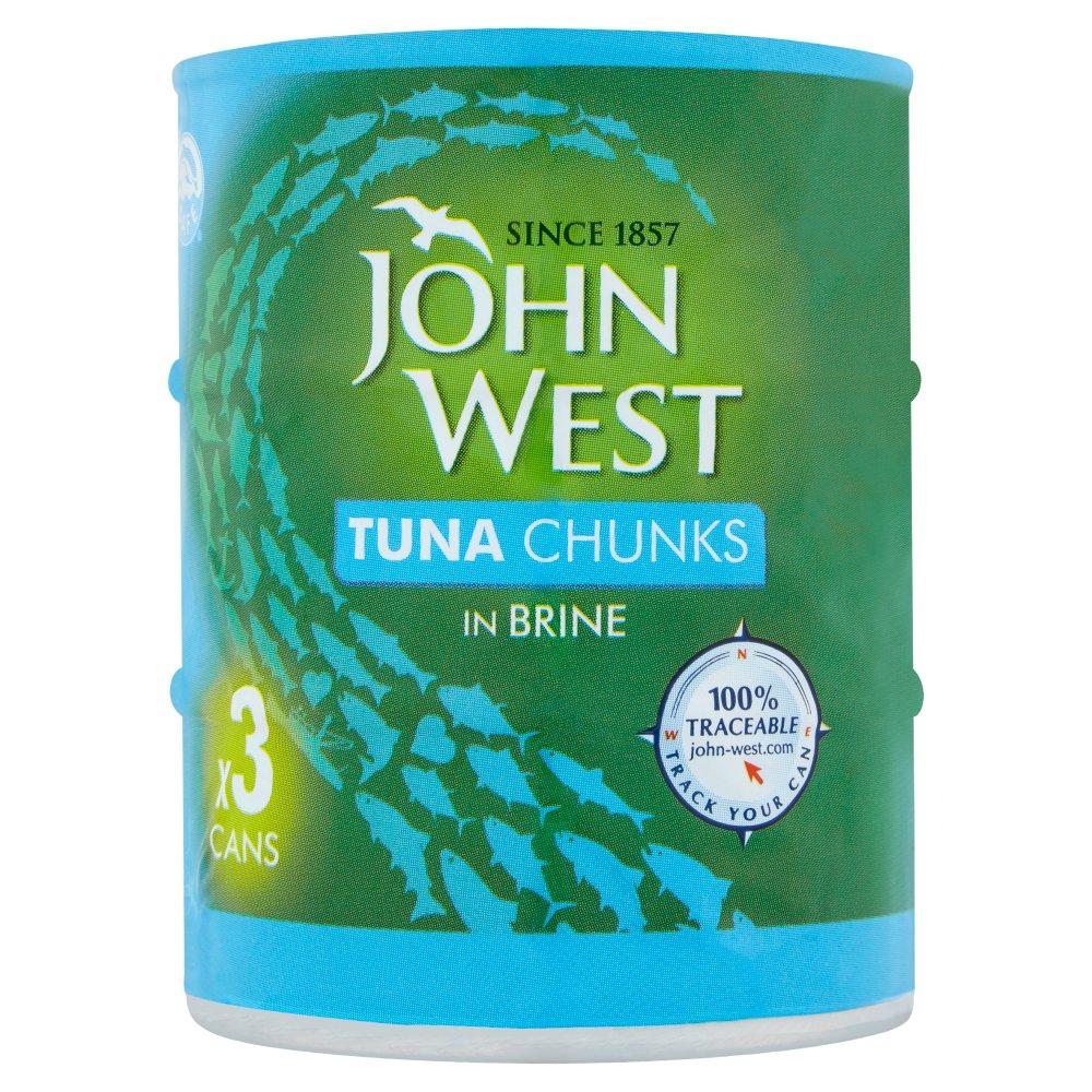 John West Tuna Chunks in Brine 3 x 145g