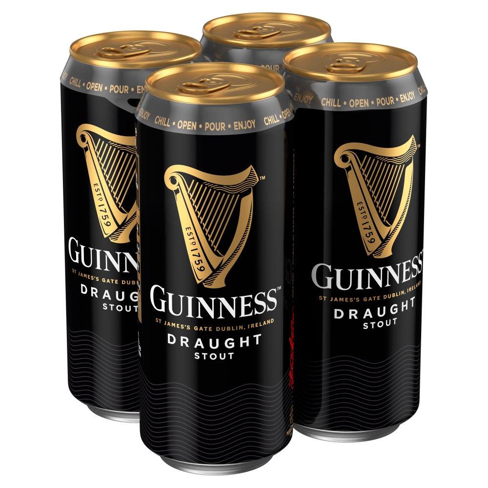 GuinnessDraughtStoutBeer4x470mlCan