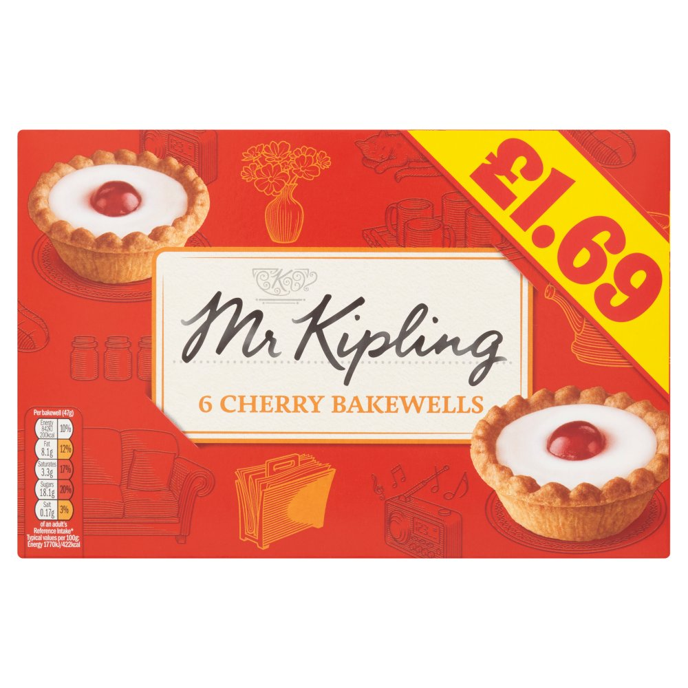 Mr Kipling Cherry Bakewell £1.69