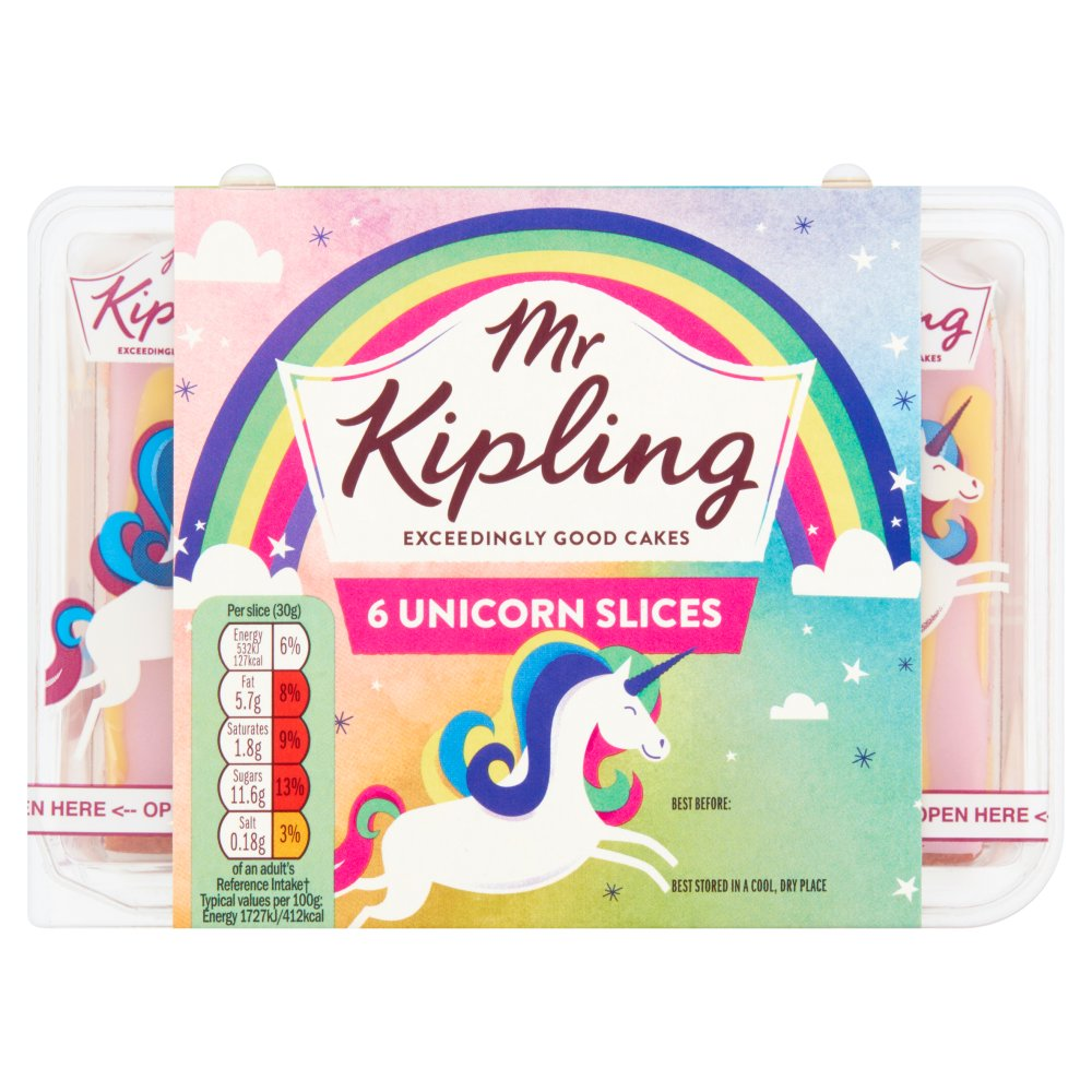 Mr Kipling 6 Unicorn Slices