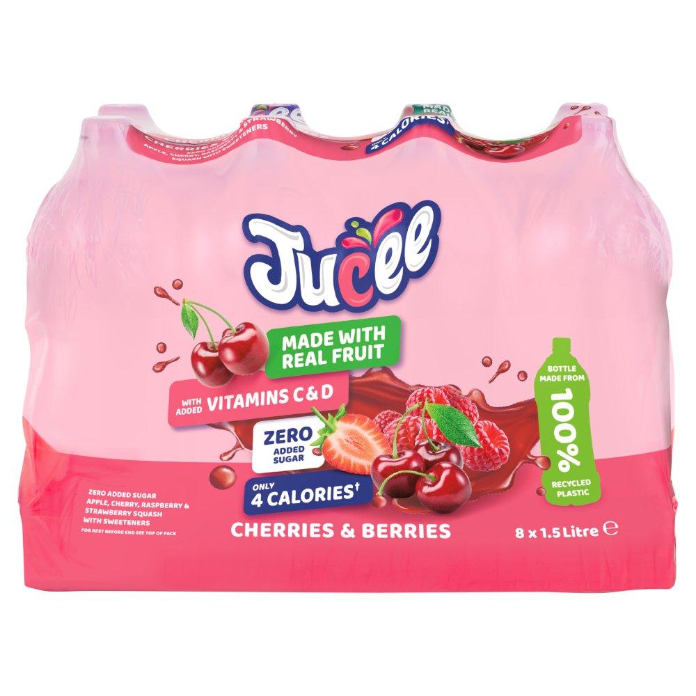 Jucee No Added Sugar Cherries & Berries 8 x 1.5 Ltr