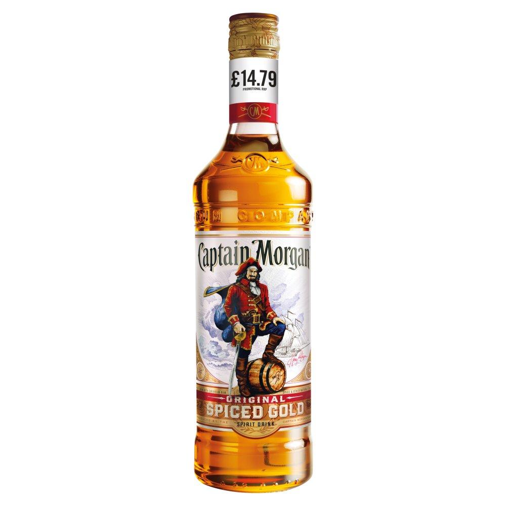 Captain Morgan Original Spiced Gold Rum Based Spirit Drink 70cl PMP £14.79