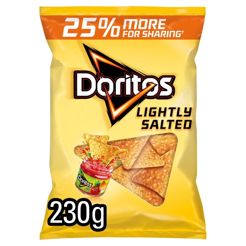 Doritos Lightly Salted Corn Chips 230g