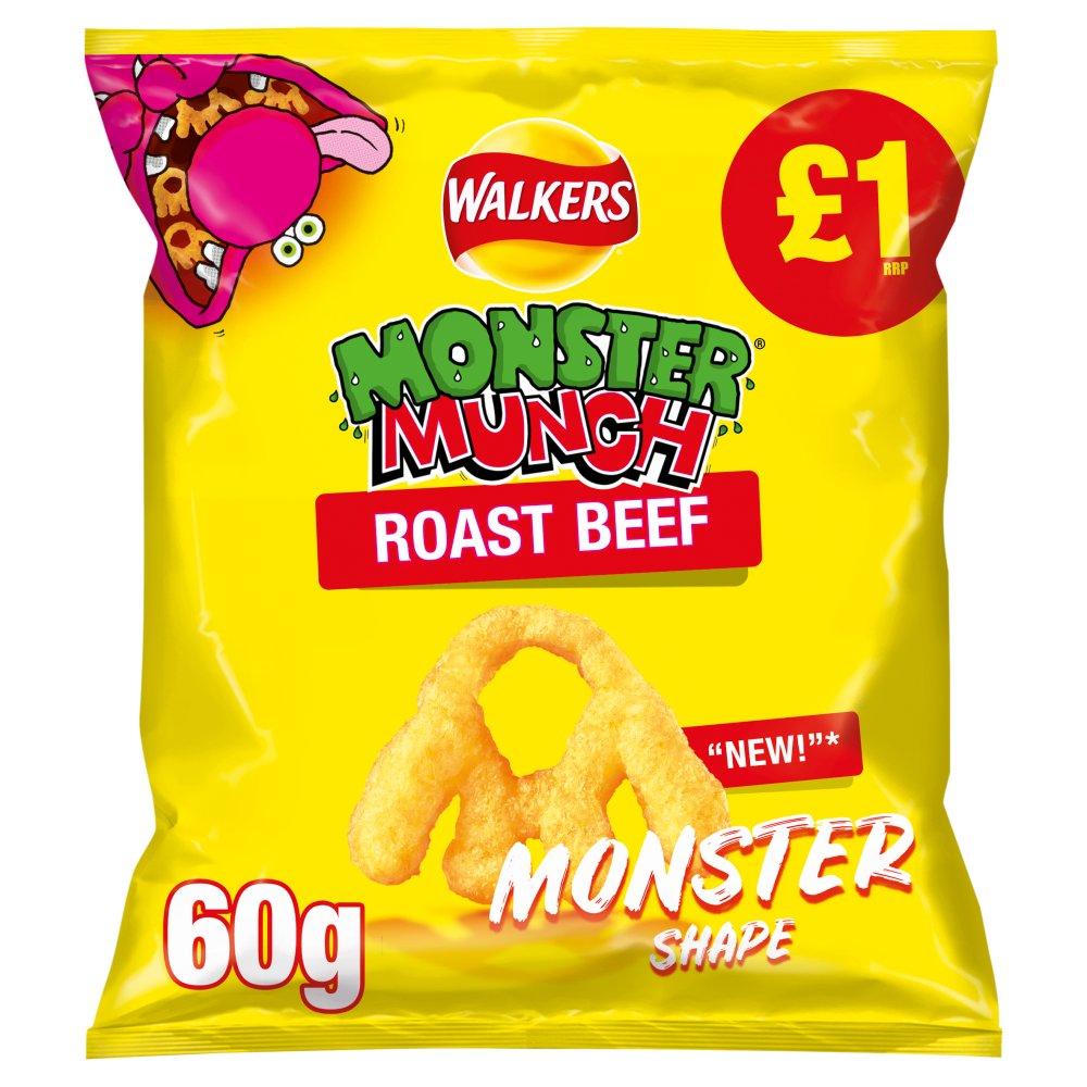 Walkers Monster Munch Roast Beef Snacks 60g