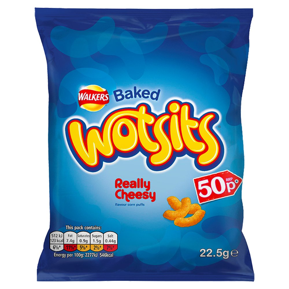 Walkers Wotsits Really Cheesy Snacks PMP 50p