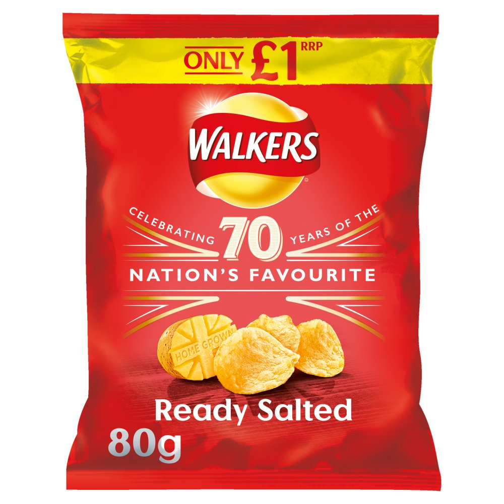 Walkers Ready Salted Crisps PMP 80g