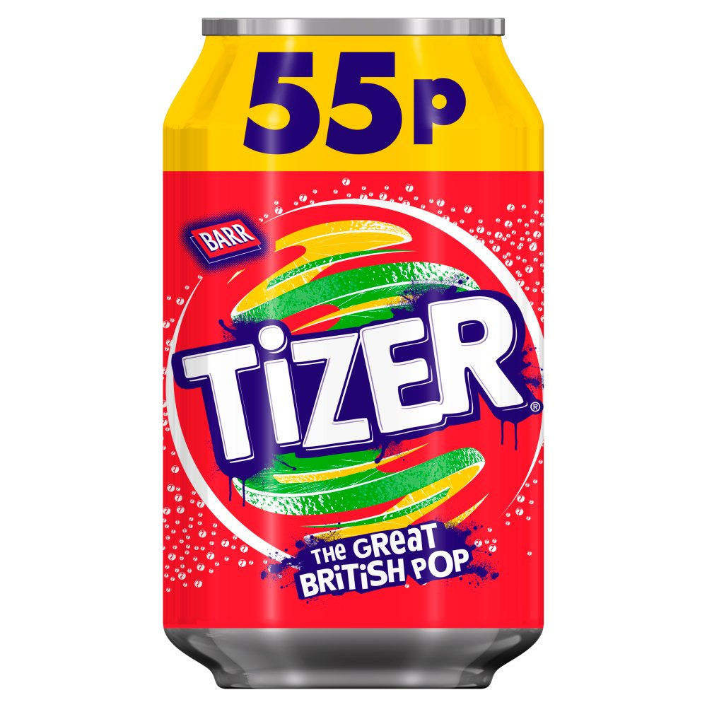 Tizer 330ml Can, PMP 55p