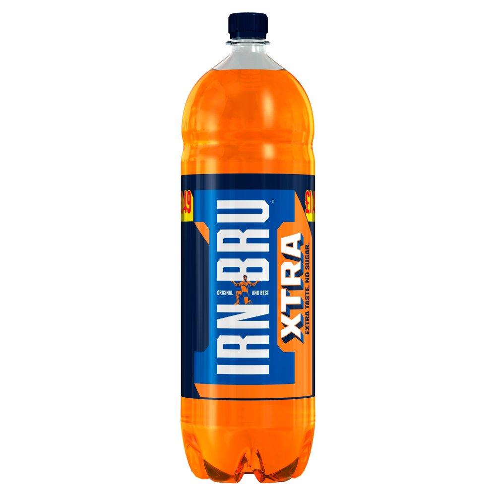 IRN-BRU Xtra No Sugar 2L, PMP £1.49