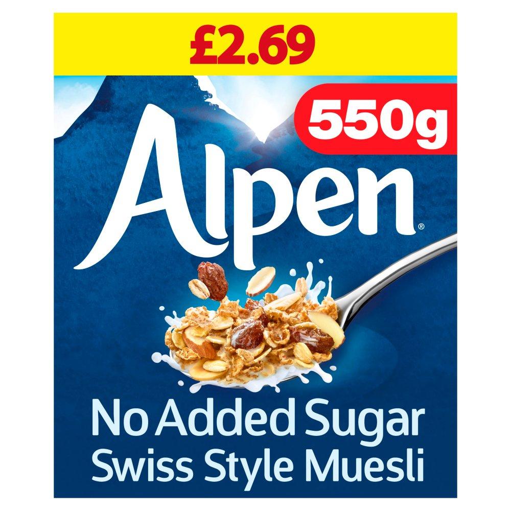 Alpen Muesli No Added Sugar 6 x 550g Case PMP £2.69