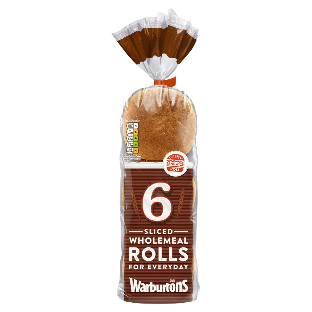 Warburtons Sandwich Roll Wholemeal