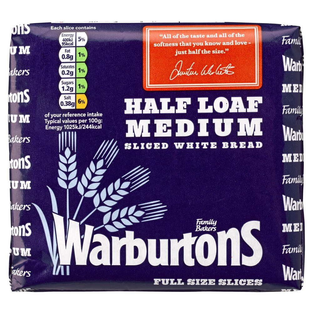 Warburtons Half Loaf Medium