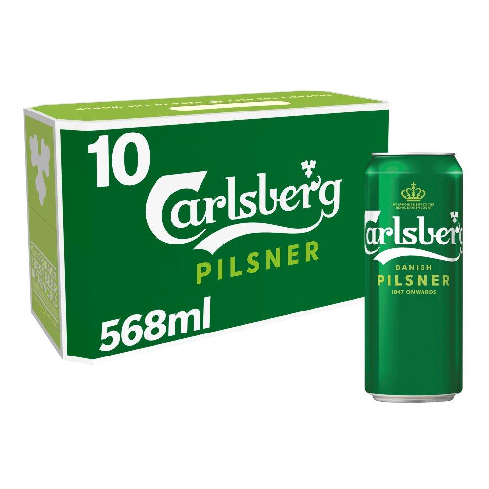 Carlsberg Lager Beer 10 x 568ml