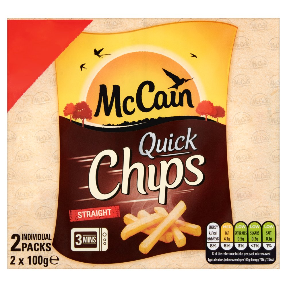 McCain Quick Chips Straight 2 x 100g (200g) :: Bestway Wholesale