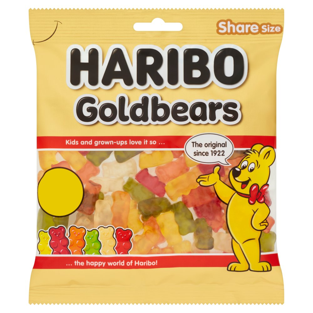 haribo goldbears bag 180g bestway wholesale
