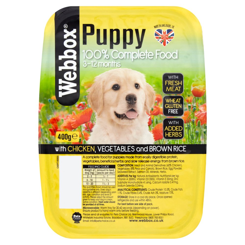 Webbox Tray Nat Puppy 400g