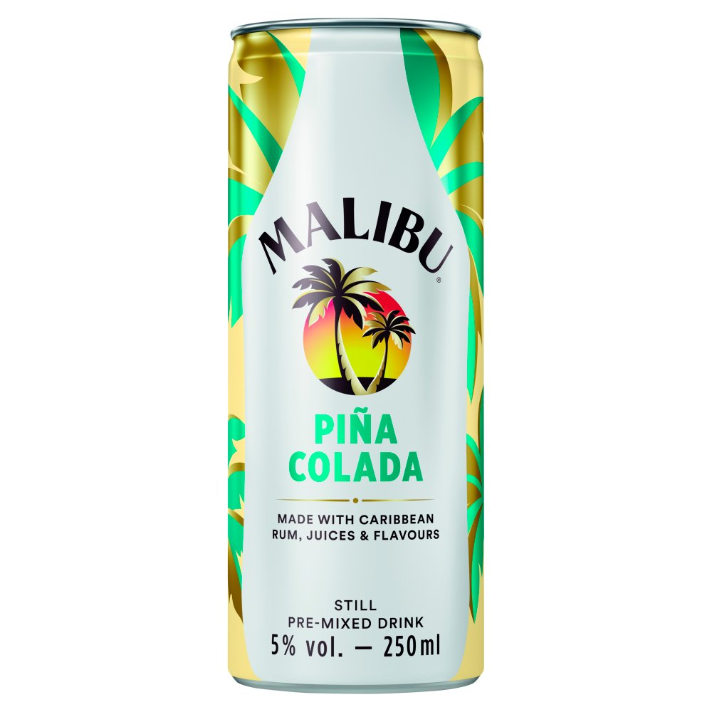 Malibu Piña Colada Still Pre-Mixed Drink 250ml