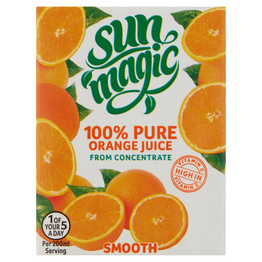 Sunmagic 100% Pure Orange Juice 200ml