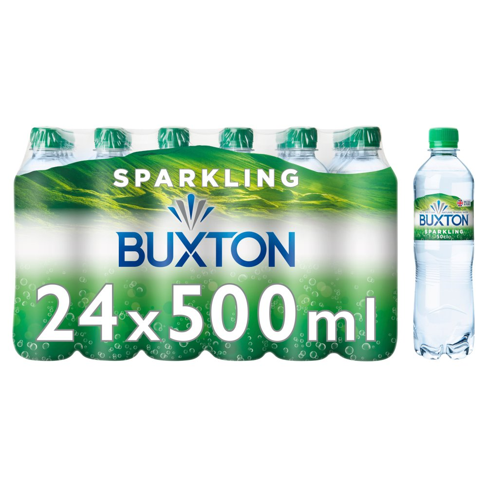 Buxton Sparkling Natural Mineral Water 24x500ml