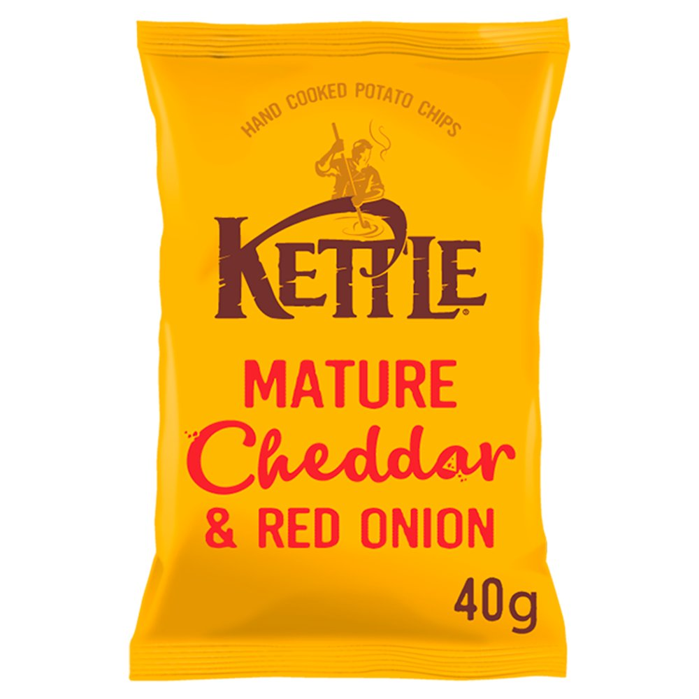 Kettle Chips Mature Cheddar & Onion 40g