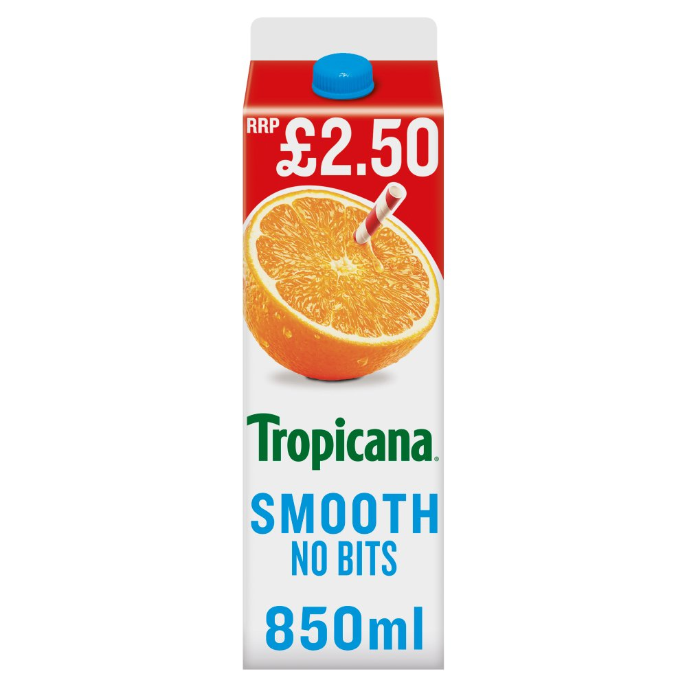 Tropicana Smooth Orange Juice £2.50 RRP PMP 850ml