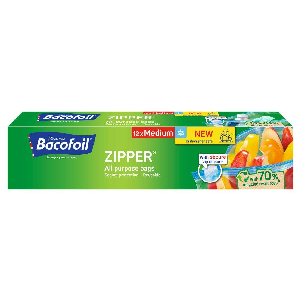 Bacofoil® Zipper® All Purpose bags 12 x Medium