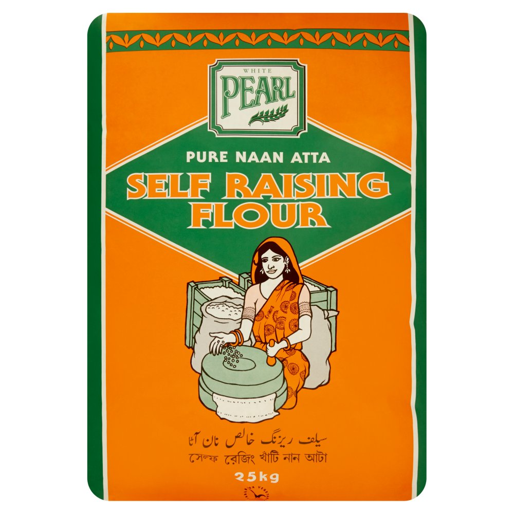 White Pearl Pure Naan Atta Self Raising Flour 25kg