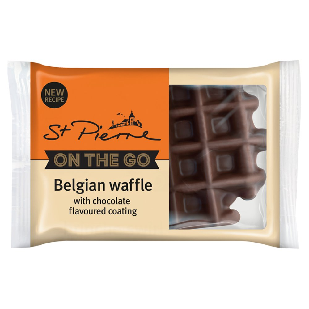 St Pierre Ind Wrapped Chocolate Waffles 90g